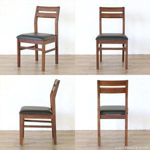 アジアン家具  ダイニングチェアー 合成皮革 チーク無垢 木製 おしゃれ 北欧 椅子 いす C340KA|landmark|05
