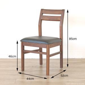 アジアン家具  ダイニングチェアー 合成皮革 チーク無垢 木製 おしゃれ 北欧 椅子 いす C340KA|landmark|06