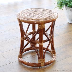 スツール チェアー 籐 椅子 腰掛け ラタン家具 木製 いす おしゃれ 浴室 玄関 ナチュラル 和風 C405HR|landmark