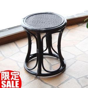 籐家具 籐の椅子 スツール いす チェア ラタン 木製 おしゃれ 和風 シンプル アジアン C415CB|landmark