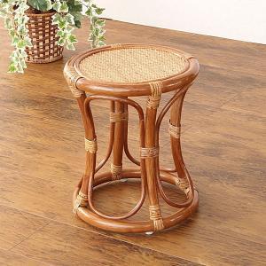 籐家具 籐の椅子 スツール いす チェア ラタン 木製 おしゃれ 和風 シンプル アジアン C415HR|landmark