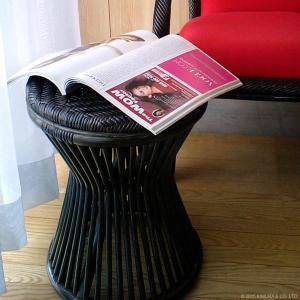 アジアン家具 エスニック スツール ラタン 籐 椅子 チェア 和 C418BK|landmark|03