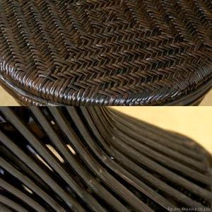 アジアン家具 エスニック スツール ラタン 籐 椅子 チェア 和 C418BK|landmark|04
