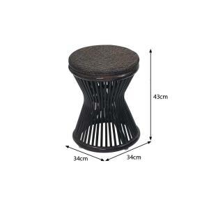 アジアン家具 エスニック スツール ラタン 籐 椅子 チェア 和 C418BK|landmark|05