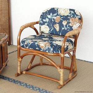 籐椅子 高座いす座椅子 ラタン チェア 木製 ハイタイプ いす アジアン 和風 レトロ おしゃれ C662HRAの写真