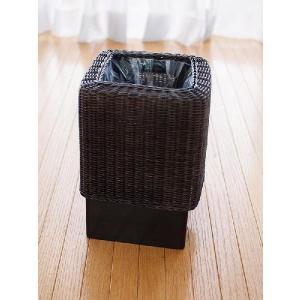 ゴミ箱 ダストボックス おしゃれ 木製 分別 アジアン モダン GK303SAT|landmark|06