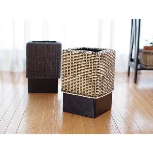 ゴミ箱 ダストボックス おしゃれ 木製 分別 キッチン アジアン カフェ GK307SAT|landmark|03