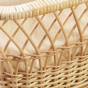 籐製 脱衣かご ラタン ランドリー バスケット 小物入れ 収納 ケース 和風 ナチュラル アジアン GK404|landmark|03