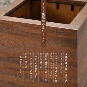 ゴミ箱 ダストボックス おしゃれ 木製 分別 キッチン アジアン 北欧 カフェ GK606KA|landmark|05
