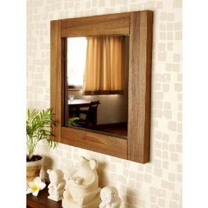 アジアン家具 雑貨 鏡 壁掛け ミラー チーク 無垢 木製 おしゃれ バリ M042SKA|landmark|02
