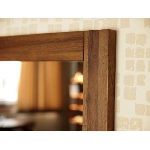 アジアン家具 雑貨 鏡 壁掛け ミラー チーク 無垢 木製 おしゃれ バリ M042SKA|landmark|03