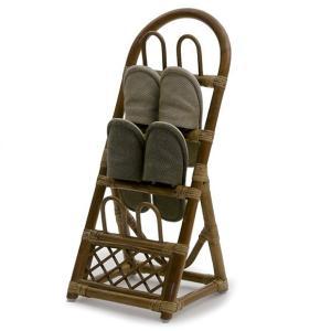 和風バリ家具。ラタンのスリッパラック。玄関やリビングにぴったりなインテリアです。