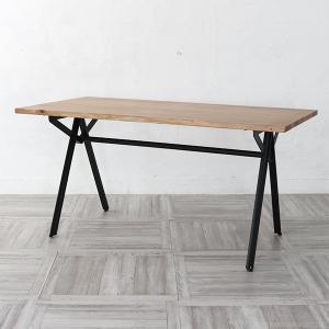 インダストリアル家具 ダイニングテーブル 机 天然木製 アイアン ヴィンテージ調 幅150cm RET520BK|landmark
