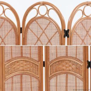 パーティション スクリーン 衝立 間仕切り 籐 ラタン製 和風 レトロ クラシック アジアン S700HR|landmark|06