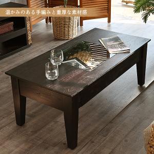 アジアン家具 エスニック センターテーブル コーヒーテーブル ガラス 机 木製 おしゃれ  T135AT|landmark|02