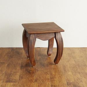 チーク無垢木製 猫脚 ナイトテーブル T602KA