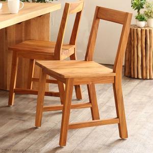 ダイニングチェア おしゃれ 椅子 いす チーク 無垢 木製 オイル仕上げ ナチュラル 北欧 UCC310WX|landmark