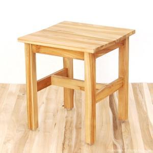 アウトレット スツール 椅子 いす チーク 無垢 木製 腰掛け おしゃれ オイル仕上げ アジアン UCS110WX|landmark