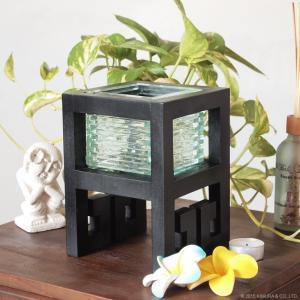 アジアン雑貨 バリ ガラス細工 キャンドルホルダー Z020204L|landmark