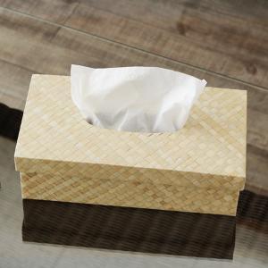 アジアン雑貨 バリ ティッシュケース おしゃれ  ボックス カバー パンダン ホワイト z060101a landmark 02