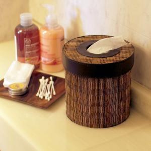 アジアン雑貨 バリ トイレットペーパー収納 ホルダー ティッシュケース ボックス カバー ココスティック z060203a|landmark