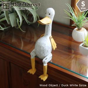 アジアン雑貨 バリ アヒル オブジェ 置物 インテリア おしゃれ 木製 Z070801N Sサイズ1点|landmark