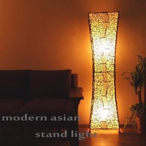 アジアン雑貨 照明 バリ フロアライト スタンドライト 間接照明 おしゃれ アクビィ Z930602S|landmark