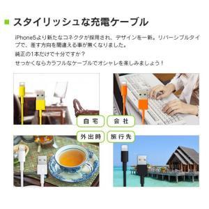カラフルなiPhone充電ケーブル 全9色 ポ...の詳細画像1
