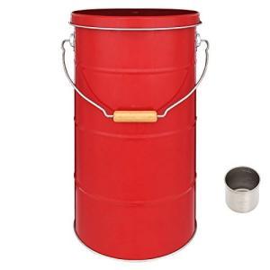 ぼん家具 日本製 米びつ ライスストッカー 収納庫 ストッカー 保存容器 米櫃 〔10kg〕 レッド
