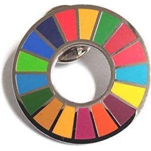 SDGs ピンバッジ 国連 バッチ バッジ(2個)|lanui