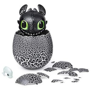 Dreamworks Dragons Hatching Toothless Interactive Baby Dragon with Sounds for Kids Aged 5 & Up|lanui
