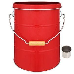 ぼん家具 日本製 米びつ ライスストッカー 収納庫 ストッカー 保存容器 米櫃 〔5kg〕 レッド