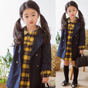 子供服 女の子 通販 コート ロング丈 薄手 スプリングコー...