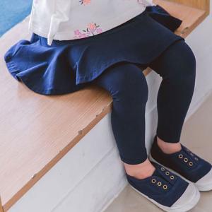 韓国子供服 女の子 フリル レギンス レディース スカートレ...