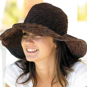 sunglobe 【送料無料】UVカット帽子 ☆ 紫外線対策  つば広 帽子 UV対策 レディース ハット ブラウン 茶 BROWN オーストラリア皮膚癌財団認定 lapia