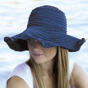 sunglobe 【送料無料】UVカット帽子 ☆ 紫外線対策  つば広 帽子 UV対策 レディース ハット navyネイビー 紺 オーストラリア皮膚癌財団認定 lapia