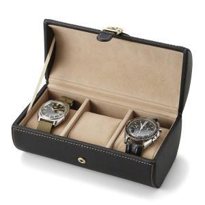 ウォッチケース(3本用) 腕時計ケース 携帯用 父の日|lapin-happy-jewelry