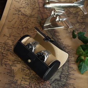 ウォッチケース(2本用) 腕時計ケース 携帯用 父の日|lapin-happy-jewelry