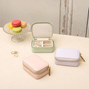 在庫限り トラベルジュエリーケースS 携帯用 アクセサリー収納 プレゼント|lapin-happy-jewelry
