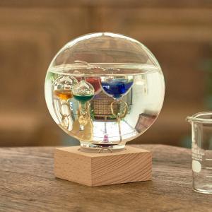 ガリレオ温度計 ガラスフロート温度計 ドーム L おしゃれ lapin-happy-jewelry