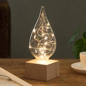 しずく LEDライト 照明 間接照明 ランプ ライト しずく ガラス|lapin-happy-jewelry