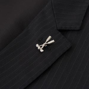 ラペルピン ゴルフ おしゃれ 結婚式 お父さん 彼氏|lapin-happy-jewelry