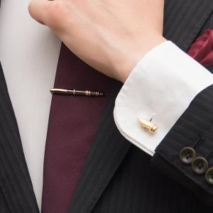 タイピン&カフスセット 万年筆&ペン先 おしゃれ ユニーク プレゼント  父の日|lapin-happy-jewelry