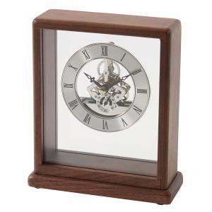 置時計 銀の時計 スケルトン 父の日|lapin-happy-jewelry