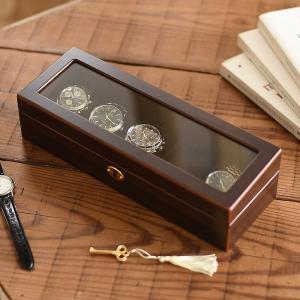 ウォッチケース 木製ウォッチケース(5本用) 腕時計ケース 木製 父の日|lapin-happy-jewelry