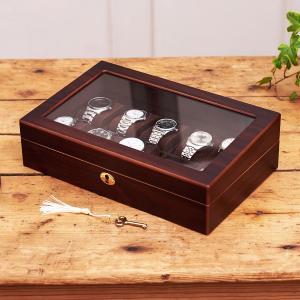 ウォッチケース 木製 木製ウォッチケース10本用 腕時計ケース 父の日|lapin-happy-jewelry