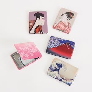 コンパクトミラー  お土産 景品 母の日 バックハンガー 桜 浮世絵 化粧 コスメ プレゼント