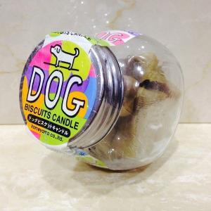 ドッグビスケットキャンドル 9個入り【瓶入り】 愛犬へのお供えに。|lapis1021