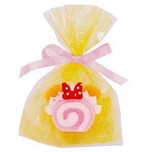 【ディズニースイーツキャンドル ピンクロールケーキ】ミニーちゃんのリボンがトレードマーク!ウェディングのお見送りギフトにも♪ lapis1021