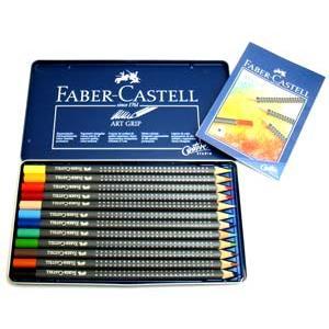 ファーバーカステル ドイツ アートグリップ油性色鉛筆 12色|lapiz